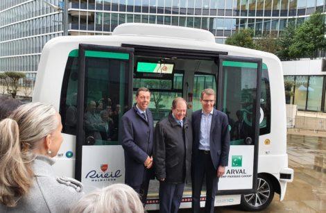 EVAA, la navette autonome quadripartite du quartier d'affaires de Rueil-Malmaison!