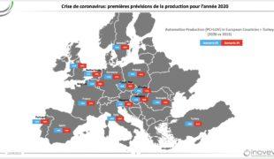 Coronavirus: impact sur l'industrie automobile européenne en 2020