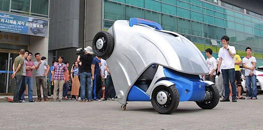 Armadillo-T, la voiture électrique repliable !