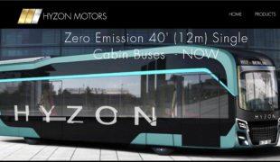 Hyzon, nouveau constructeur américain signe 1 000 bus à hydrogène