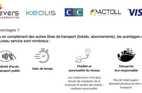 Transports en commun: Nevers adopte le e-ticket!