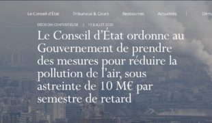 L'air de rien, le Conseil d'État sanctionne le Gouvernement sur la pollution… de l'air !