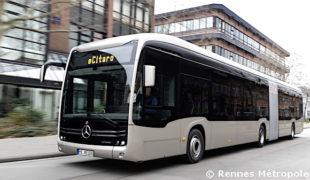 Rennes Métropole commande 92 bus électriques e-Citaro…