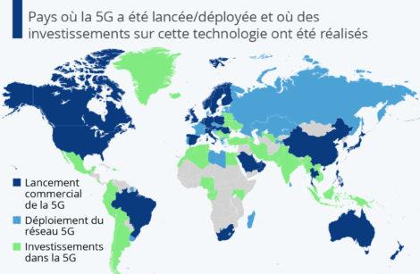 La 5G déjà disponible dans 40 pays et en test en France!
