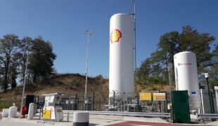 Première station GNL pour Shell France à Mionnay
