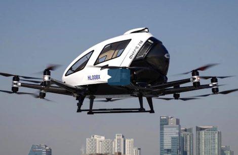 Taxi drone: premiers essais à Séoul… et à Paris aux JO 2024!