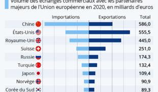 Importations et exportation avec l'Union européenne, qui gagne ou perd quoi?