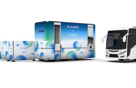 Le Bourget du Lac: une nouvelle station mobile d'hydrogène par Atawey!