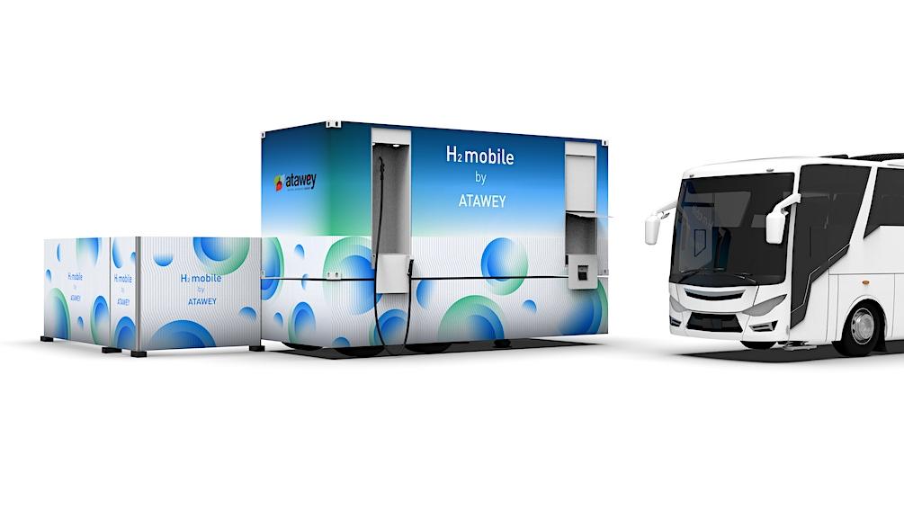 Le Bourget du Lac : une nouvelle station mobile d'hydrogène par Atawey !