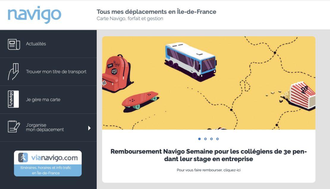 Remboursement du forfait Navigo pour les collégiens en stage en entreprise !